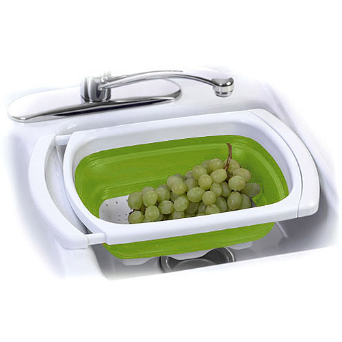 Progressive Collapsible and Expandable Over-the-Sink Colander