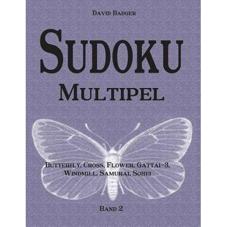 Sudoku Multipel : Butterfly, Cross, Flower, Gattai-3, Windmill, Samurai, Sohei - Band