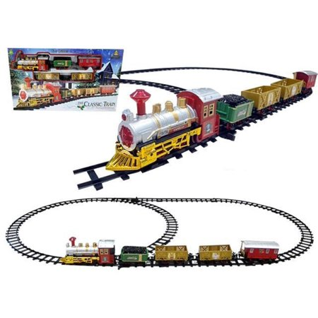 Christmas Tree Trains Sets (16-Piece Battery Operated Lighted & Animated Christmas Express Train Set with)