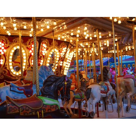 Merry go Round, Indiana State Fair, Indianapolis, Indiana, Print Wall Art By Anna (Coin Operated Merry Go Round For Sale)