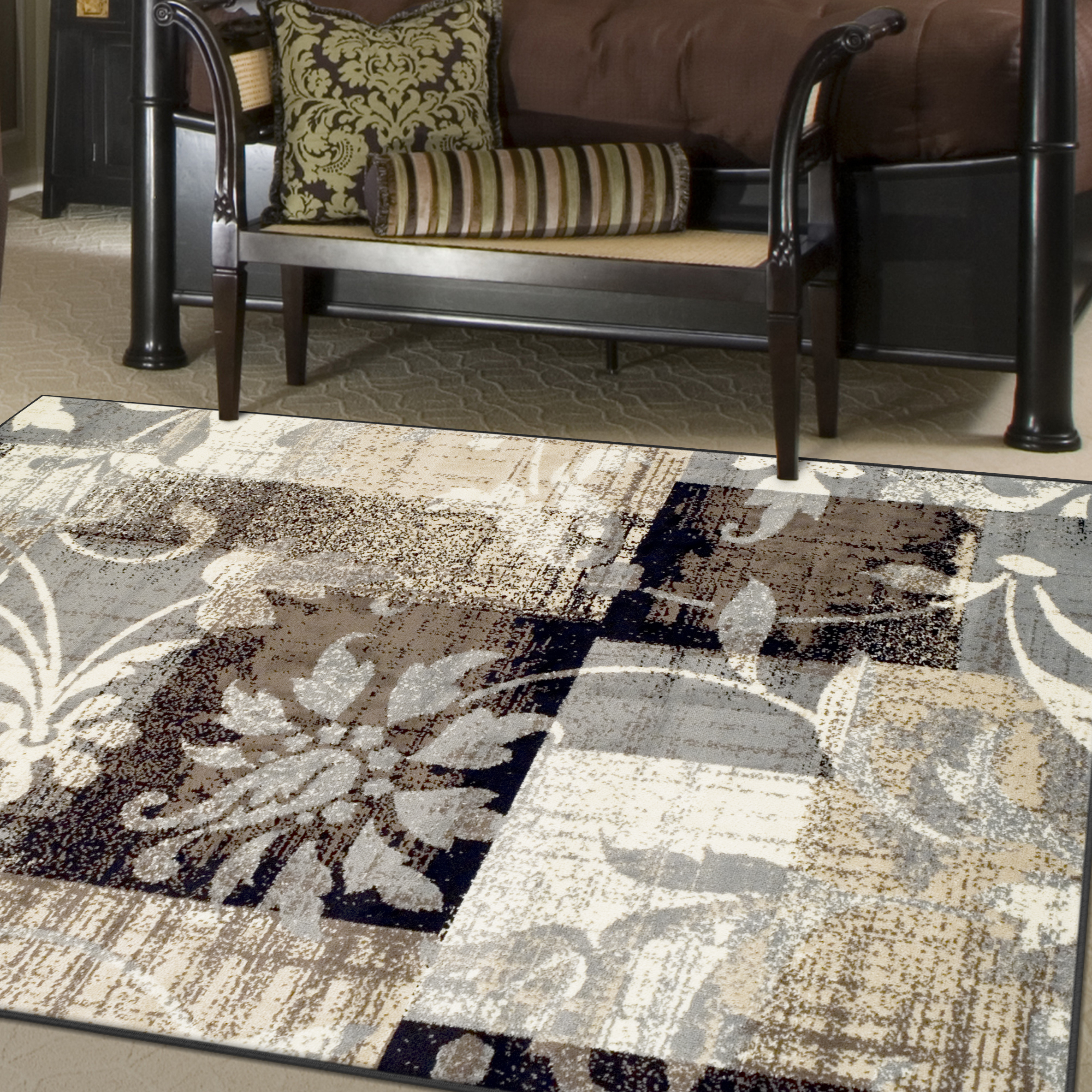 Superior Pastiche Collection with 8mm Pile and Jute Backing, Moisture Resistant and Anti-Static Indoor Area Rug