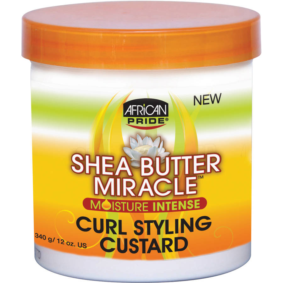 African Pride Shea Butter Miracle Moisture Intense Curl Styling Custard, 12 oz