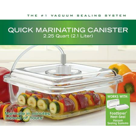 T02-0050-015, Sunbeam FoodSaver Vacuum Sealing 2.25 Qt Quick Marinating Canister