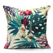 Tropical Plant Decorative Throw Pillow Case Cushion Cover  18''x18'' Pillowcase Pillowslip Protector Sham for Couch Sofa Home Bedroom Bed Patio Chair