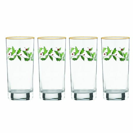 Lenox Holiday Gems - Lenox Holiday Hiball Glasses, Set of 4