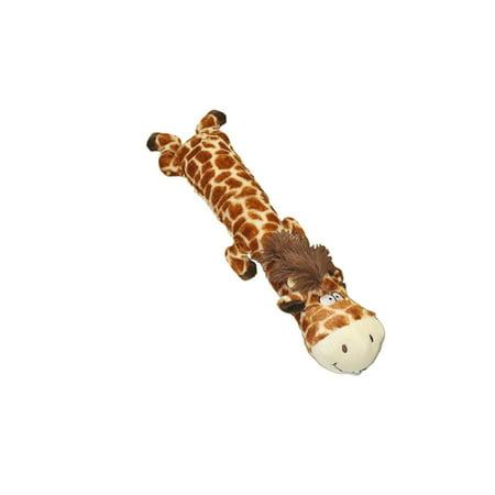 Dawdler Dudes Giraffe Plush Filled Squeak Dog Toy, 20-Inch, Long Bodied Squeaker By Multipet - Dog Giraffe