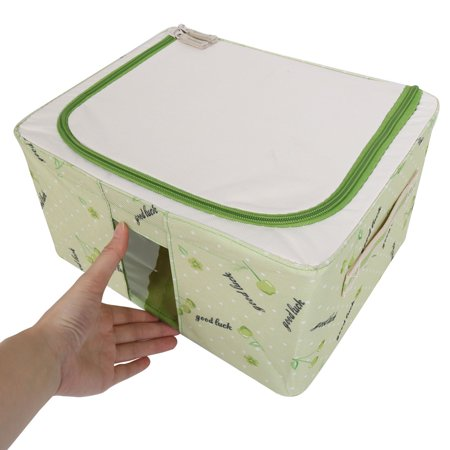 Home Fruit Print Foldable Clothes Cosmetics Storage Box Green 30cm x 23cm x 16cm - image 4 of 7