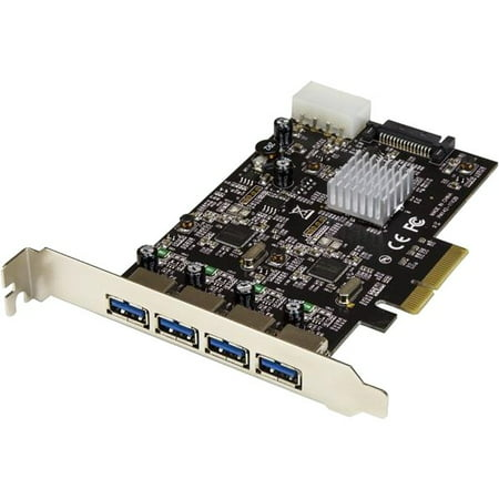 4-Port USB 3.1 (10Gbps) Card - 4x USB-A with Two Dedicated Channels - PCIe Channel 4 Viewing Card