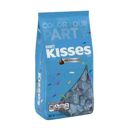 Hershey's Kisses Light Blue Foil Milk Chocolate Candy, 17.6 Oz. (Blue Kisses Chocolate)