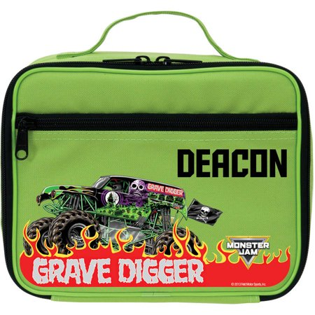 Personalized Monster Jam Grave Digger Green Kids Lunch