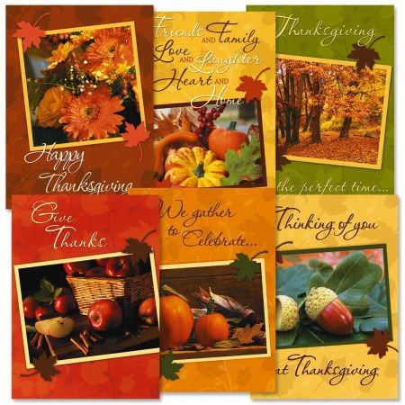 Photo Thanksgiving Greeting Cards - Set of 12 (2 of each)