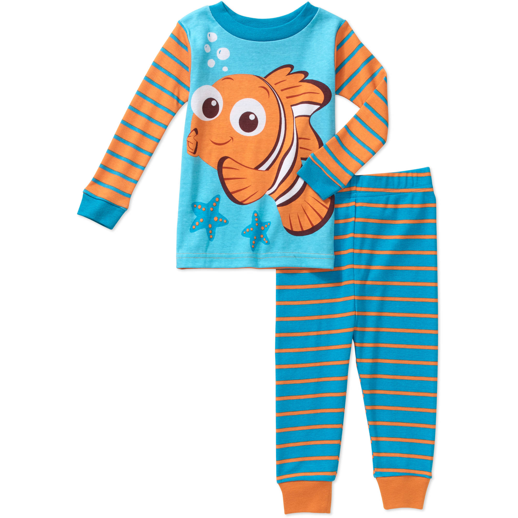 Finding Nemo Newborn Baby Boy Cotton Tight Fit Pajamas 2pc Set