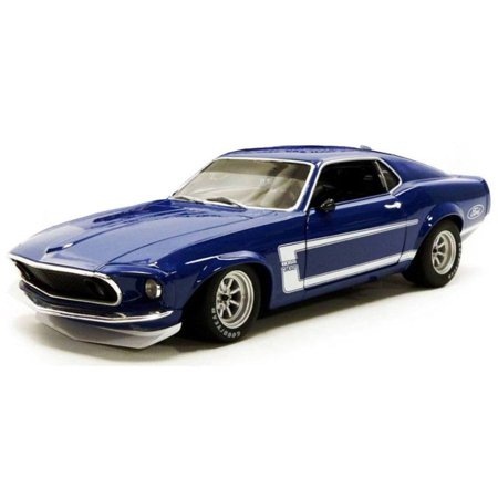 1969 Ford 302 - 1969 Ford Mustang Boss 302 Trans Am Blue Street Version Ltd Ed to 384 pieces Worldwide 1/18 Diecast Model Car by Acme