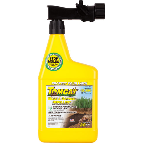 TOMCAT Mole & Gopher Repellent Liquid, 32 oz