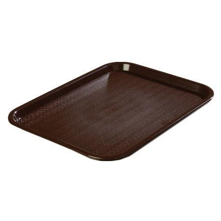 Cafeteria Tray - Chocolate Brown - 10-in x (Glasteel Dark Wood Cafeteria Tray)