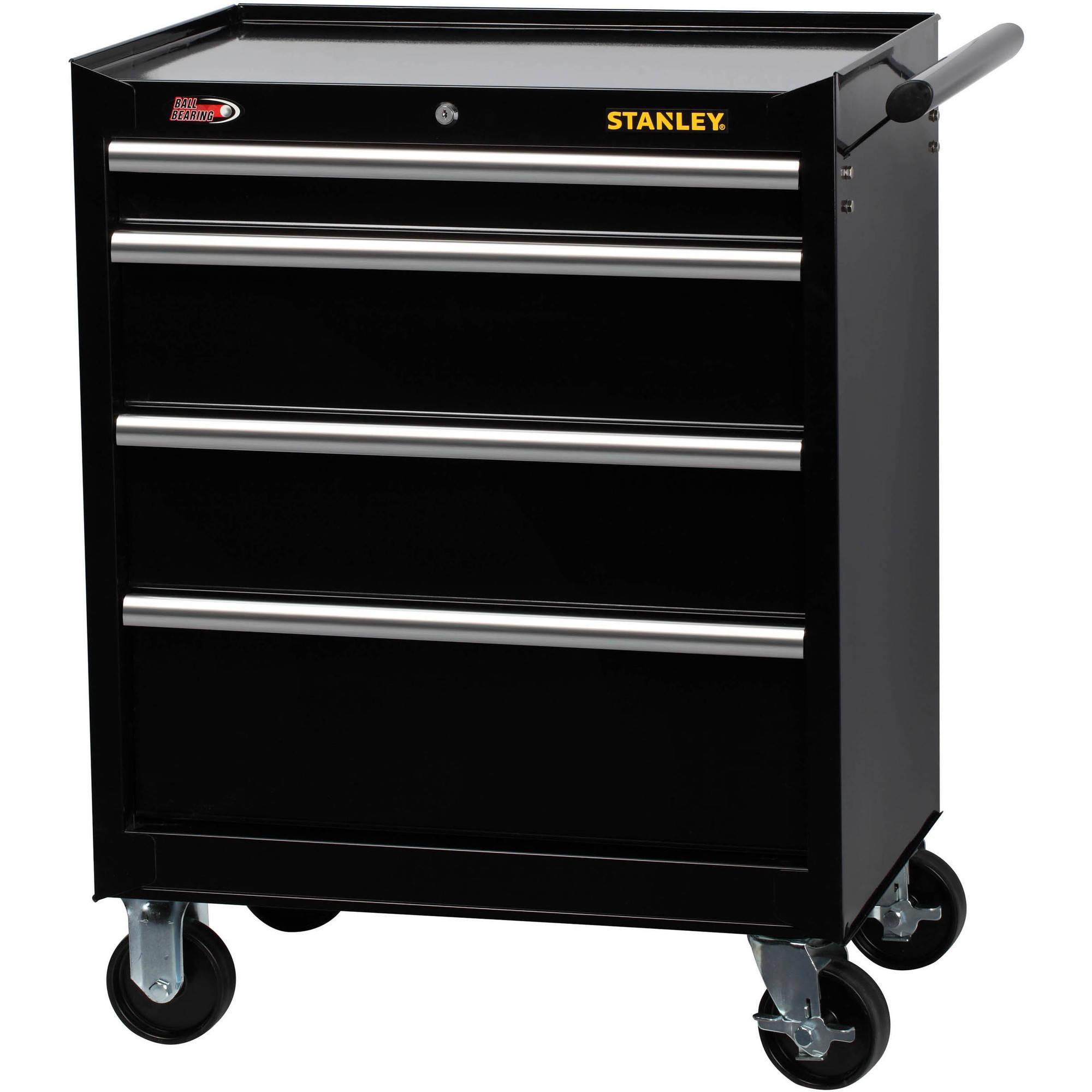 Stanley 4-Drawer Cabinet, Black