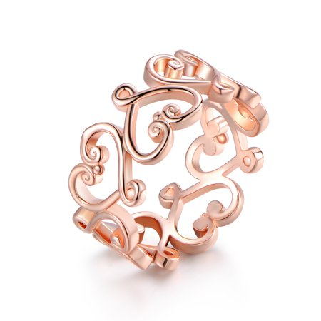 Open Filigree Heart - Rose Gold Plated Filigree Heart Ring