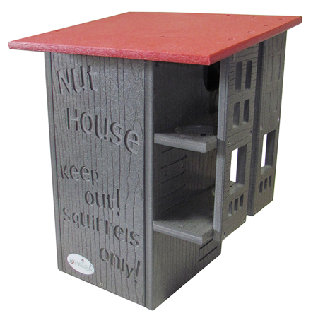 JCs Wildlife Ultimate Squirrel House Nesting Box Gray\ Cardinal Red