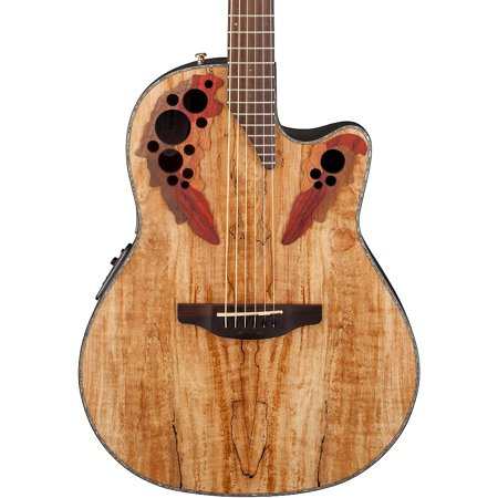 Ash Cutaway - Ovation Celebrity Elite Plus Mid-Depth Cutaway Acoustic Electric Guitar (Spalted Maple)