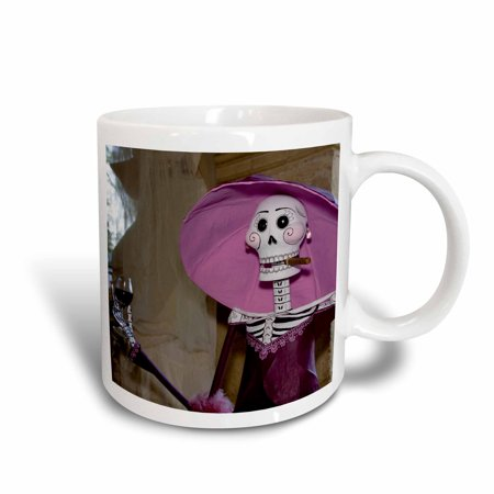 3dRose Day of the Dead. Skeleton in the Catrina Style, Oaxaca, Mexico. , Ceramic Mug, - Who Is Catrina Day Of The Dead