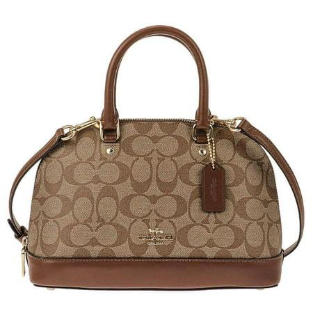 NEW WOMEN'S COACH (F27583) SIGNATURE KHAKI MINI SIERRA SATCHEL HANDBAG BAG - Coach Bag