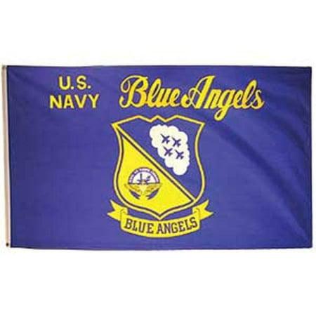 U.S. Navy Blue Angels Flag 3ft x 5ft By (Anaheim Angels Car Flag)
