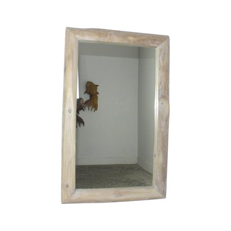 Haussmann Mirror Teak Rectangle 22 X 35 In H (16 X 29) Agate Grey