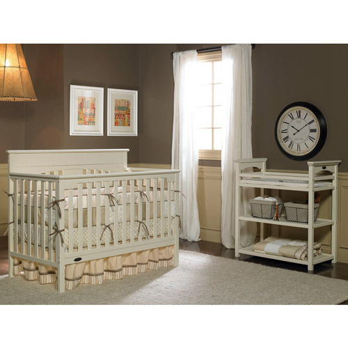 Graco Lauren Signature Fixed-Side Convertible Crib, French Vanilla