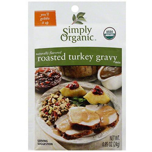 Simply Organic Roasted Turkey Gravy Mix, 0.85 oz (Pack of 12)