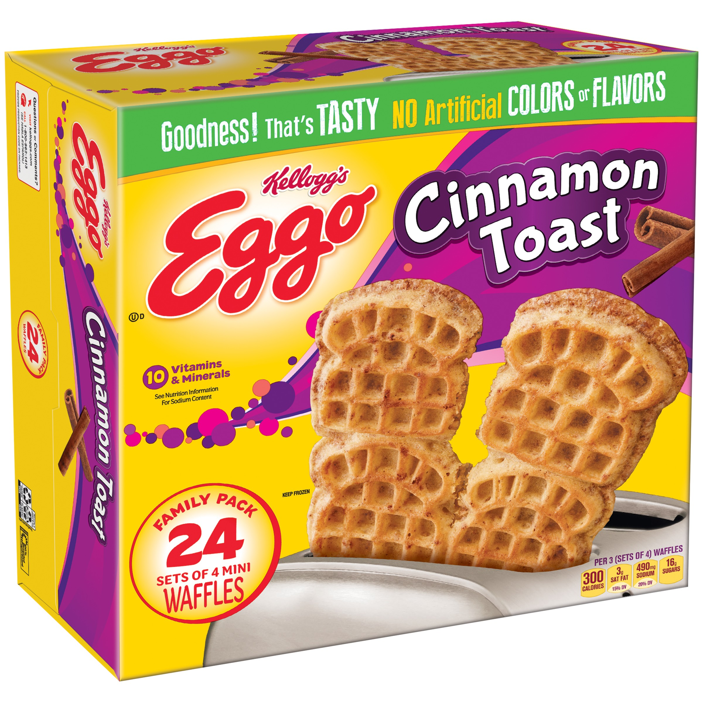 Kellogg Eggo Cinnamon Toast Waffles