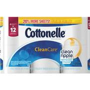 Cottonelle Clean Care Toilet Paper Double Rolls, 208 sheets, 6 rolls