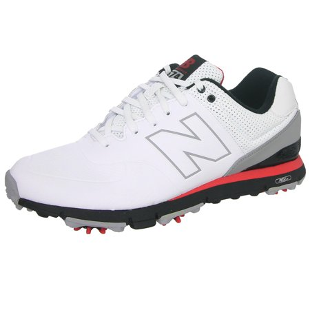 New Balance Mens Nbg574 Golf Shoes 13 Us D White/Red