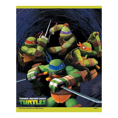 Tmnt Loot Bags (8pc) for Birthday - Party Supplies - Licensed Tableware - Misc Licensed Tableware - Birthday - 8 Pieces