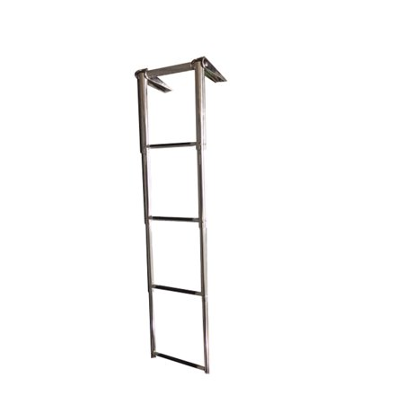 Pactrade Marine 4 Step Telescoping Boat Swim Ladder Stainless Steel for Marine Boat