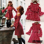 Mommy ; Me Family Matching Dress Mother Daughter Lattice Holiday Dresses Outfits