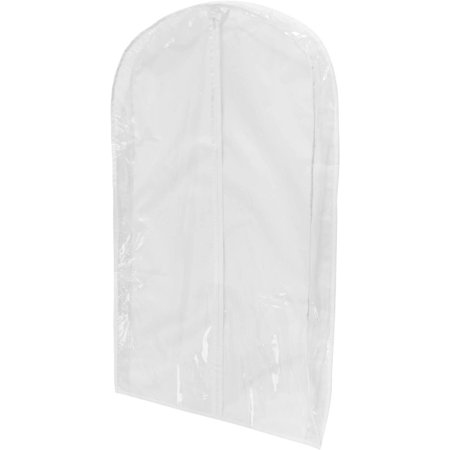 Honey Can Do PEVA Suit Bag, Clear/White (Pack of 3)