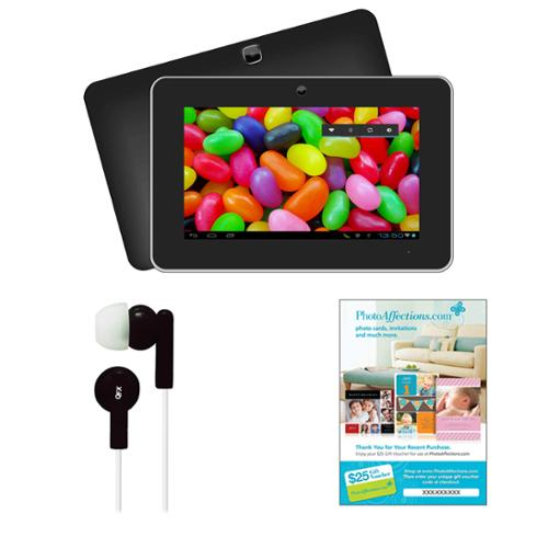 """Supersonic 9"""" Android 4.1 Touch Screen Tablet with Earbuds and $25 Voucher"""