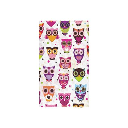 ZKGK Colorful Owl Cute Pattern for Kids Hand Towel Bath Towels For Home Outdoor Travel Use 16