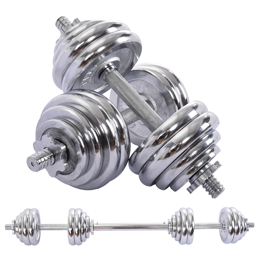 Body Workout Home Gym Home Heavy Dumbbells Adjustable Lifting Training Set for Men and Women KOKOBASE 30KG Dumbbells Barbell Set With Connecting Rod,Dumbbells Barbell Set,Adjustable Dumbbells set