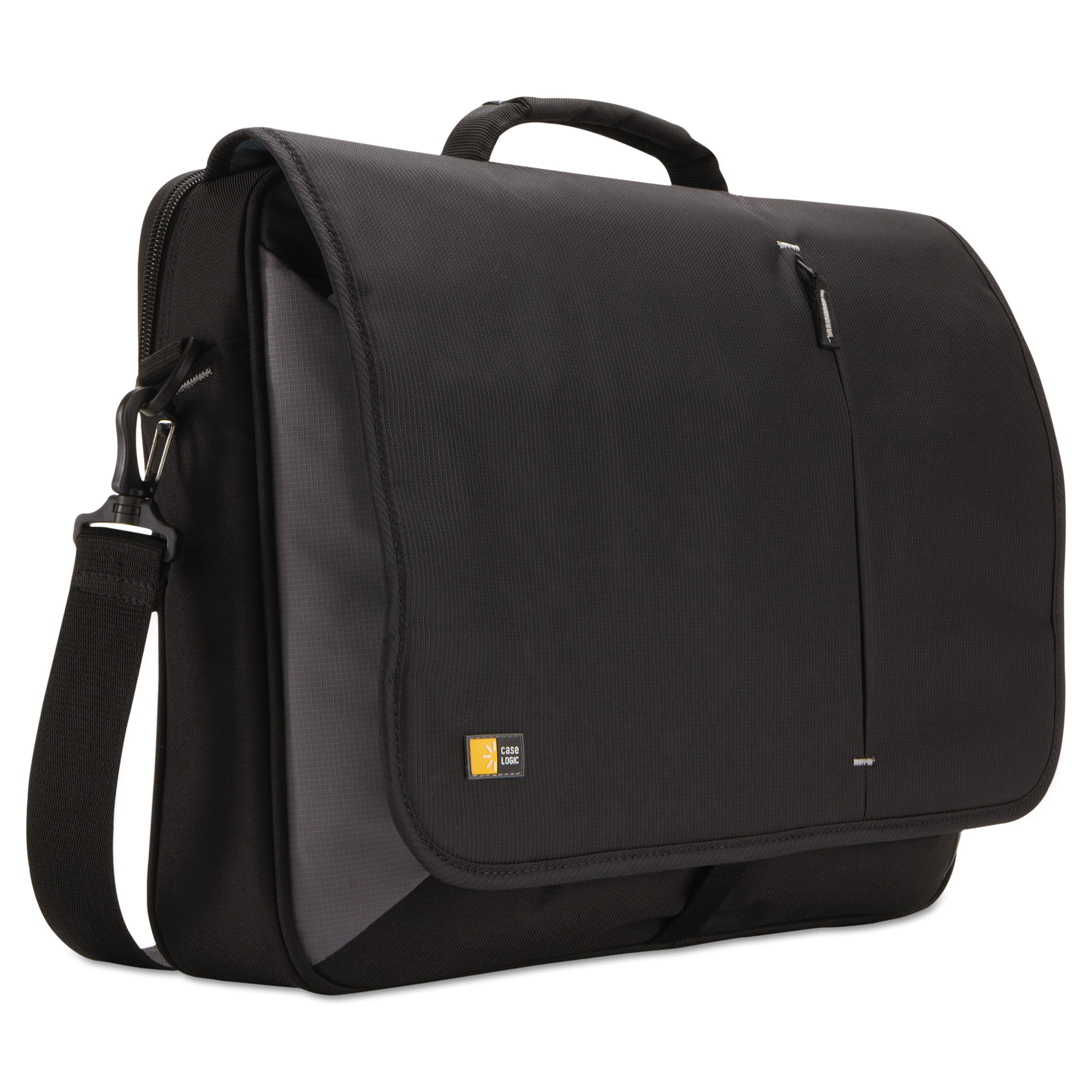 "Case Logic 17"" Laptop Messenger, 3 3/8 x 17 3/4 x 13 3/4, Black"