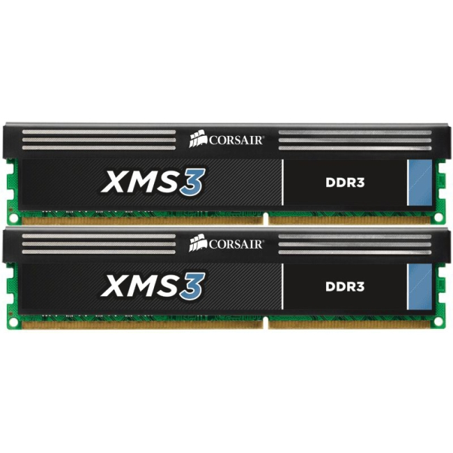 Corsair XMS3 8GB (2x4GB) DDR3 1600MHz C9 Memory Kit