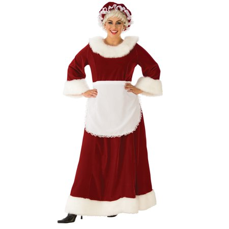 Womens Curvy Premium Traditional Mrs. - Traditional Mrs Claus Costume