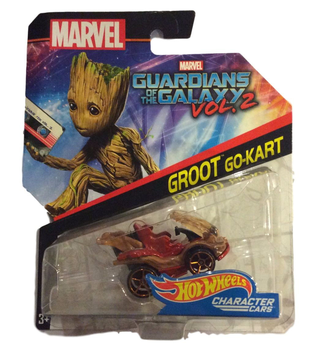 Hot Wheels 1:64 Marvel Character Car Guardians of the Galaxy Groot Go-Kart DXM05-0910 by Hot Wheels