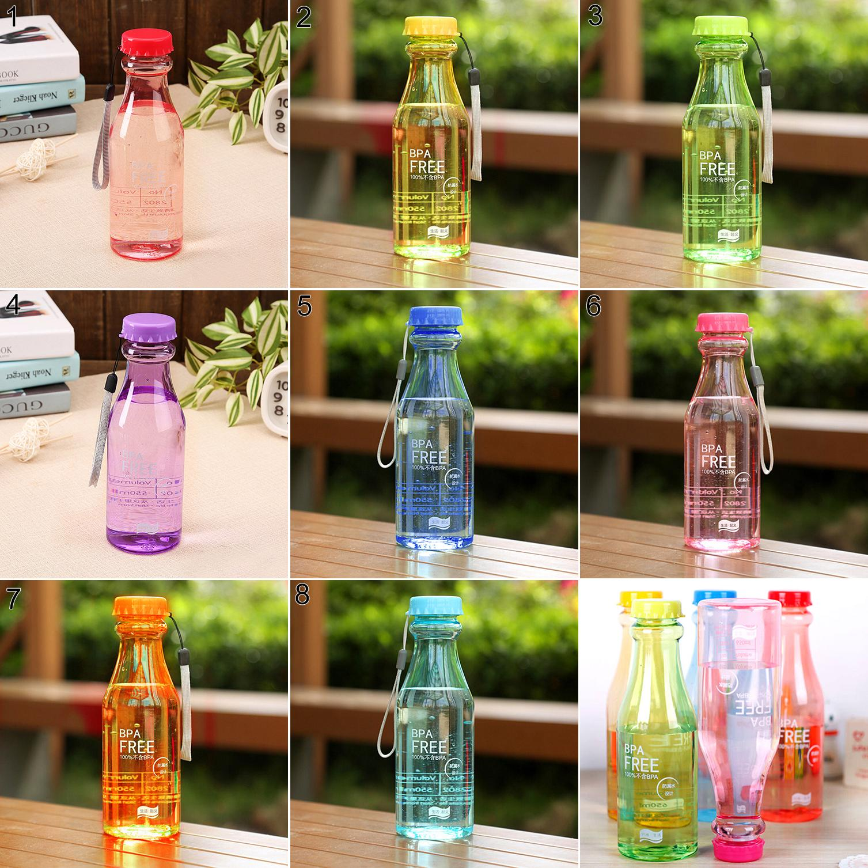Heepo 550ml BPA Free Cycling Bicycle Bike Sports Unbreakable Plastic Water Bottle