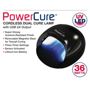 Americanails PowerCure Cordless Dual Cure Lamp with USB 2A Output
