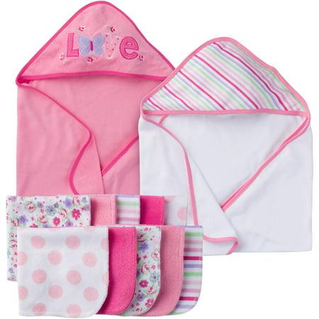 e9374e32b00a Gerber - Gerber Newborn Baby Girl Towel And Washc - Walmart.com