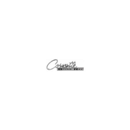 Eckler's Premier  Products 25-121045 Trim Parts, Glove Box Door Emblem  5213 Corvette (Optional Glove Box Trim)