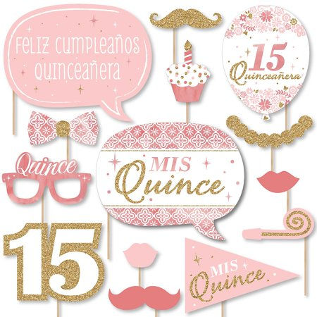 Themes For Sweet 15 (Mis Quince Anos - Quinceanera Sweet 15 Birthday Party Photo Booth Props Kit - 20)