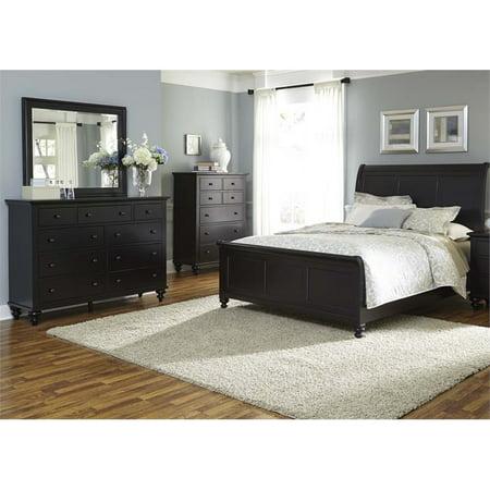 Hilton Bedroom (Liberty Furniture Hamilton III 4 Piece Queen Sleigh Bedroom)