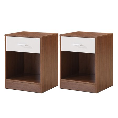 Teraves NightStand with Drawer Cabinet for Bedroom Bedside Table Furniture